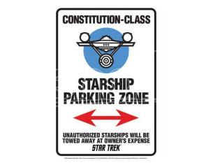 AQUARIUS ENT STAR TREK STARSHIP PARK ZONE TIN SIGN INSEGNA