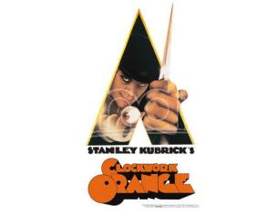 AQUARIUS ENT A CLOCKWORK ORANGE KNIFE TIN SIGN INSEGNA