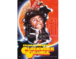 AQUARIUS ENT A CLOCKWORK ORANGE ONE SHEET TIN SIGN INSEGNA