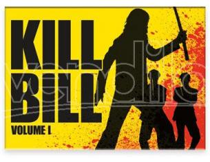 AQUARIUS ENT KILL BILL FIGHT FLAT MAGNET MAGNETI