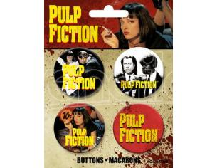 AQUARIUS ENT PULP FICTION BUTTONS 4 PACK SPILLA