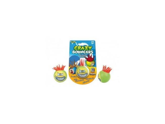 Palla Crazy Bouncer Capelli Flessibili ed Elastici Verde Rosso [Giocattolo]