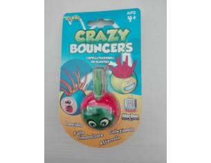 Palla Crazy Bouncer Capelli Flessibili ed Elastici Rosso Verde [Giocattolo]