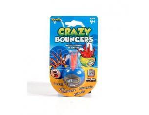 Palla Crazy Bouncer Capelli Flessibili ed Elastici Blu Rosso [Giocattolo]
