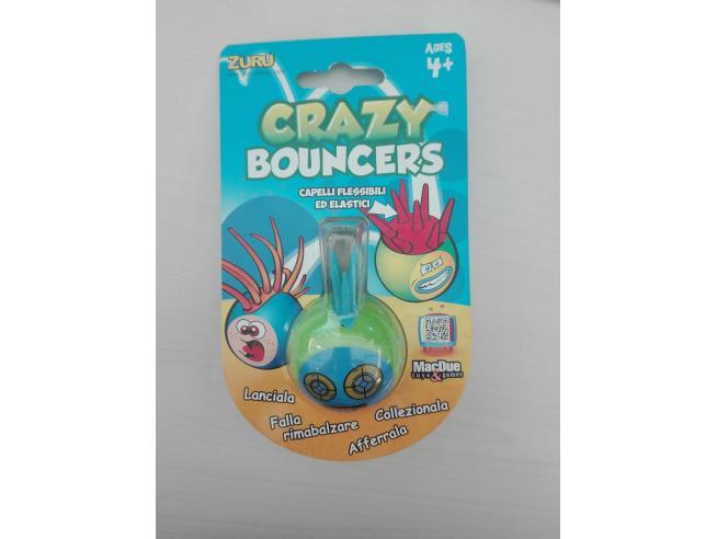 Palla Crazy Bouncer Capelli Flessibili ed Elastici Verde Azzurro [Giocattolo]