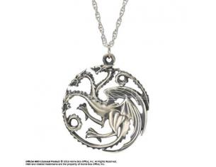 Ciondolo collana Game of Thrones Pendant & Necklace Targaryen Sigil Sterling Silver Noble Collection