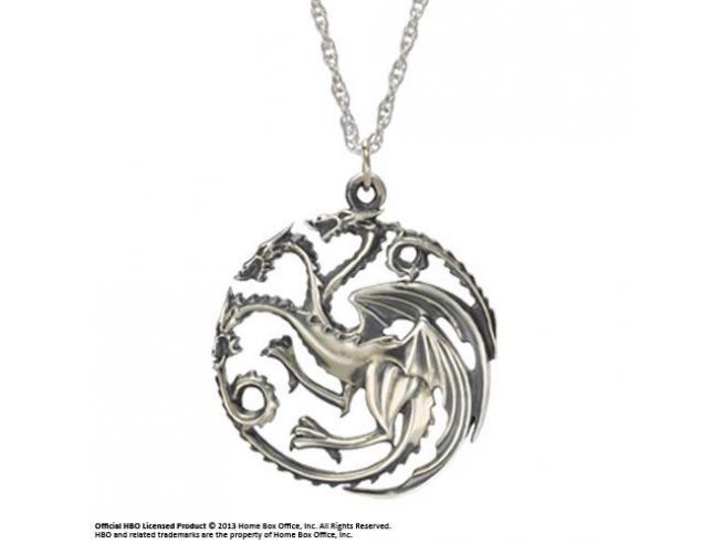 Ciondolo e Collana dei Targaryen Game of Thrones Noble Collection