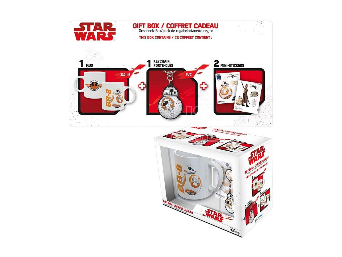 STAR WARS-TAZZA+PORTACHIAVI+STICKER BB8 GADGET