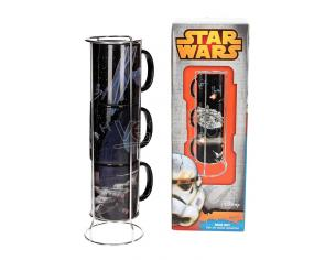 SD TOYS SW DEATH STAR/MILL FALCON STACKABLE MUGS TAZZA