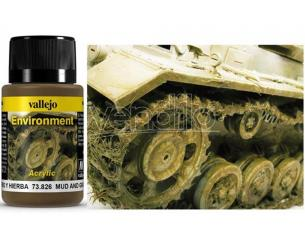 VALLEJO WEATHERING MUD AND GRASS 40ML 73826 COLORI
