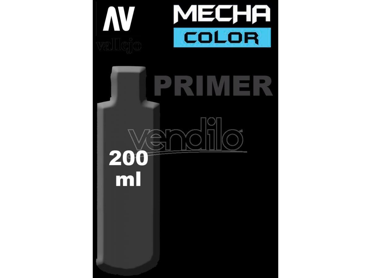 VALLEJO MECHA COLOR PRIMER BLACK 200 ml 74642 COLORI