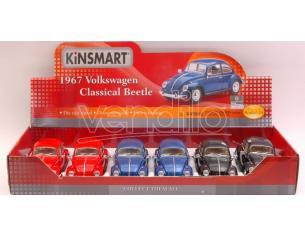 KINSMART KT7002D VW CLASSIC BEETLE 1967 1:24 Modellino
