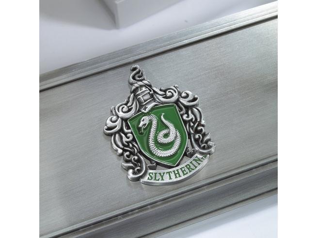 Porta Bacchetta con Stemma Serpeverde Harry Potter Noble Collection
