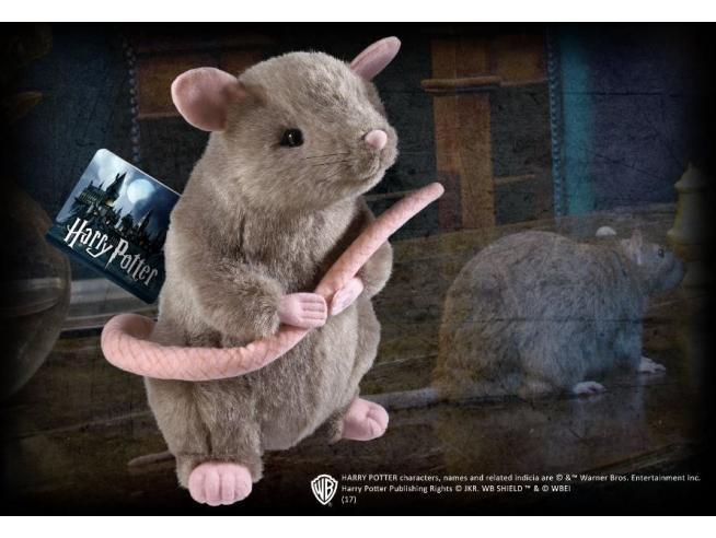 Peluche Crosta il Topo di Ron Wesley Harry Potter 23 cm Noble Collection