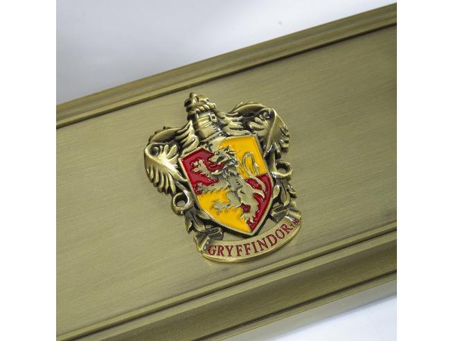 Porta Bacchetta con Stemma Grifondoro Harry Potter Noble Collection