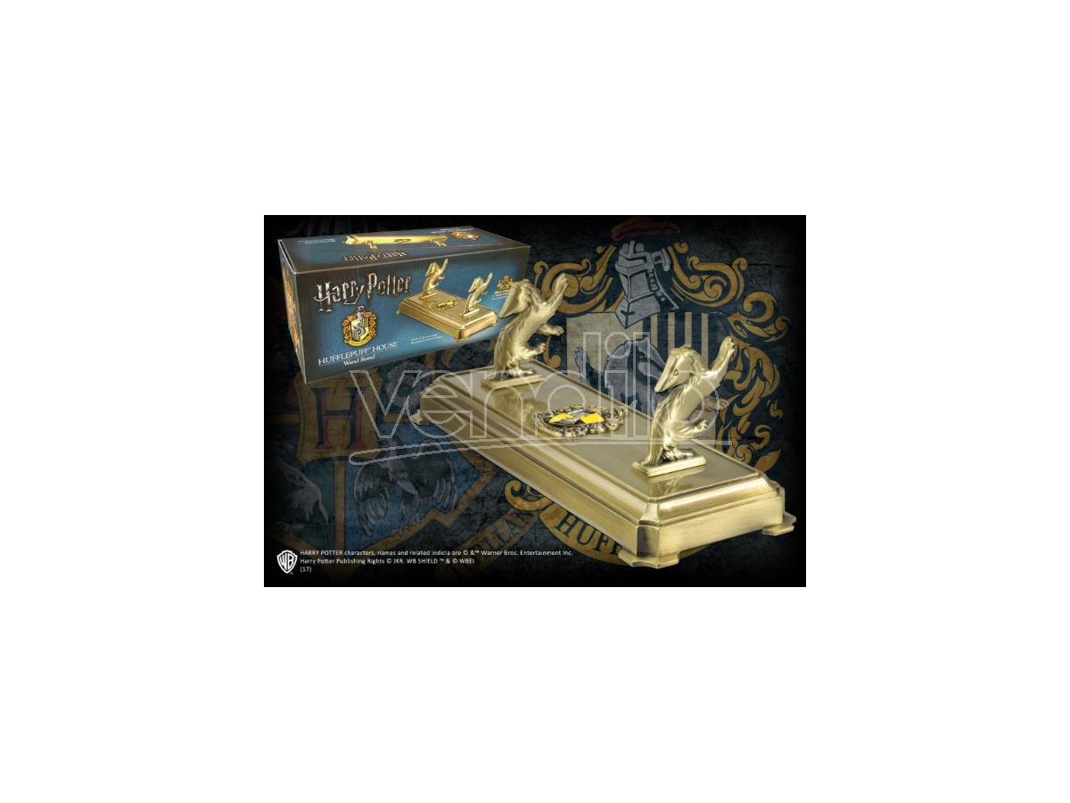 Harry Potter  Porta Bacchetta Con Stemma Tassorosso  Noble Collection