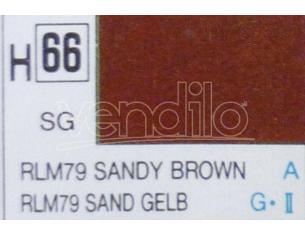 Gunze GU0066 SANDY BROWN SEMI-GLOSS ml 10 Pz.6 Modellino