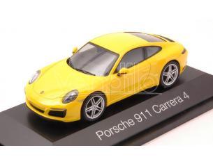 Herpa HP7108 PORSCHE 911 CARRERA 4 COUPE' YELLOW 1:43 Modellino