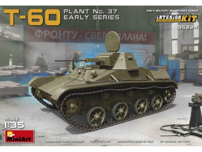 Miniart MIN35224 T-60 (PLANT.No.37 EARLY SERIES) KIT 1:35 Modellino