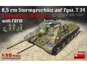 Miniart MIN35229 JAGDPANZER SU-85 (R) W/CREW KIT 1:35 Modellino