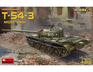 Miniart MIN37007 T-54-3 SOVIET MEDIUM TANK MOD.1951 KIT 1:35 Modellino