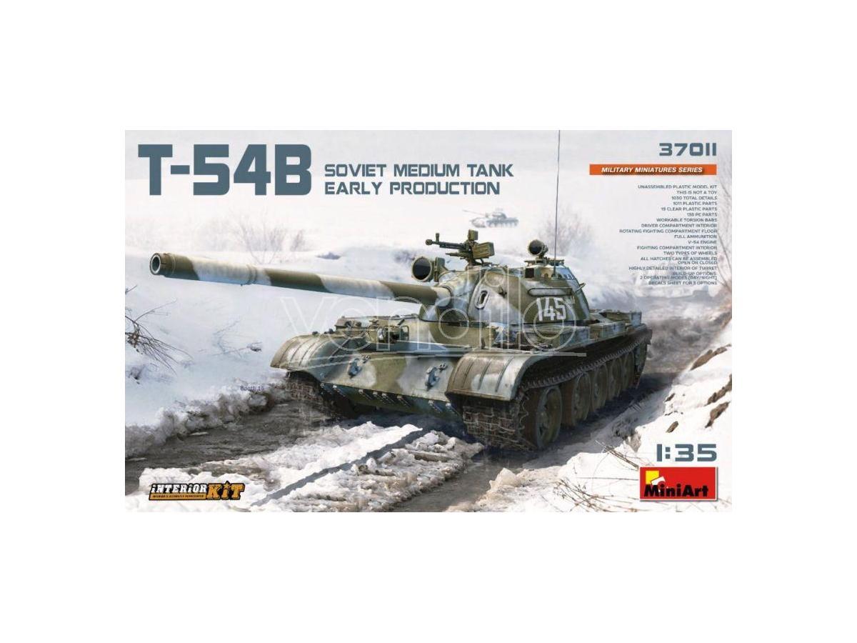 Miniart MIN37011 T-54B SOVIET MEDIUM TANK EARLY PRODUCTION W/INTERIOR KIT 1:35 Modellino