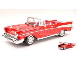 Motormax MTM73175R CHEVY BEL AIR 1957 RED 1:18 Modellino