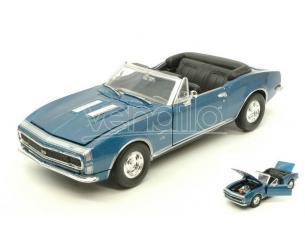 Motormax MTM73301MB CHEVROLET CAMARO SS 1967 METALLIC BLUE 1:24 Modellino