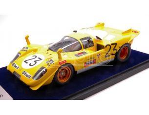 Looksmart LS1808EV FERRARI 512 S N.23 8th 1000 KM SPA 1970 D.BELL-DE FIERLANT 1:18 C/VETR. Modellino