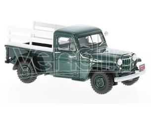 Neo Scale Models NEO45804 JEEP PICK UP 1954 GREEN/WOOD 1:43 Modellino