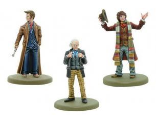 WARLORD GAMES DOCTOR WHO 1st, 4th AND 10th DOCTORS GIOCO DA TAVOLO
