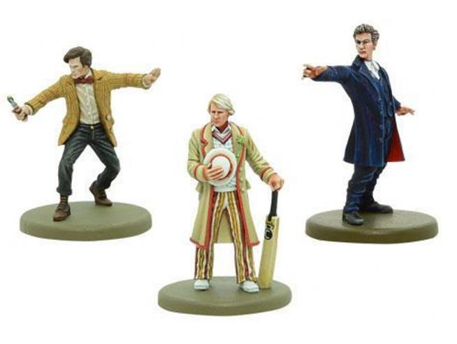WARLORD GAMES DOCTOR WHO 5th,11th AND 12th DOCTORS GIOCO DA TAVOLO
