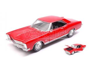 Welly WE24072R BUICK RIVIERA GRAN SPORT 1965 RED 1:24-27 Modellino