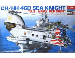 ACADEMY 12207 CH/HH-46D SEA KNIGHT US NAVY VERSION 1:48 Kit Modellino