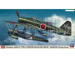 HASEGAWA 09922 NAKAJIMA A6M2-N TYPE 2 FIGHTER SEAPLANE AMAKUSA FLYING GROUP 1:48 KIT Modellino