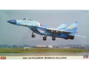 HASEGAWA 01928 MIG-29 FULCRUM RUSSIAN FALCONS 1:72KIT Modellino