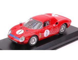 Best Model BT9691 FERRARI 250 LM N.1 WINNER PERTH 6 H CAVERSHAM 1965 SPENCER MARTIN 1:43 Modellino