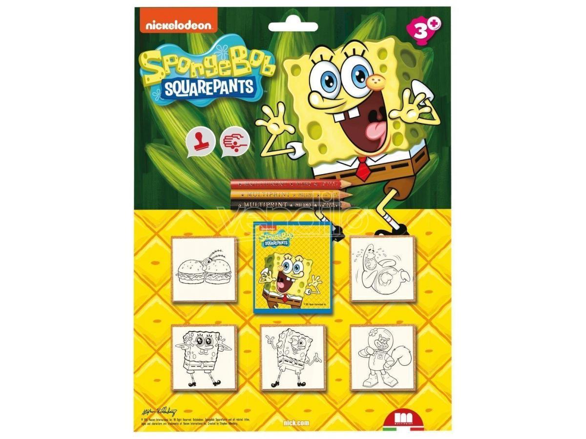 Multiprint - Spongebob Blister Timbra E Colora