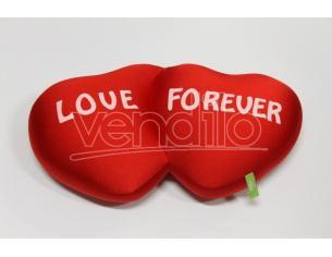 """Peluche Cuscino Cuore Doppio Antistress """"Love Forever"""" 50 x 24 cm"""