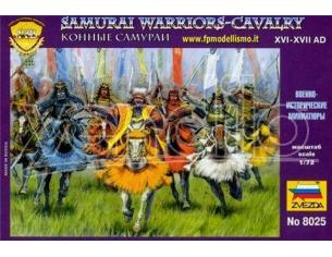 Zvezda Z8025 SAMURAI WARRIORS CAVALRY KIT 1:72 Modellino