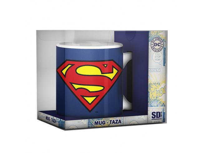 SD TOYS SUPERMAN LOGO CERAMIC MUG TAZZA