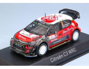 Norev NV155363 CITROEN C3 WRC N.7 9th POLAND RALLY 2017 A.MIKKELSEN-A.JAEGER 1:43 Modellino