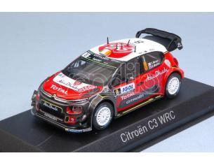 Norev NV155364 CITROEN C3 WRC N.8 5th TOUR DE CORSE 2017 C.BREEN-S.MARTIN 1:43 Modellino