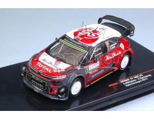 Ixo model RAM640 CITROEN C3 WRC N.9 8th RALLY SARDEGNA 2017 MIKKELSEN-SYNNEVAAG 1:43 Modellino