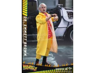 "HOT TOYS BTTF PART II 12"" DR EMMETT BROWN AF ACTION FIGURE"