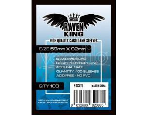 RAVEN KING BUSTINE PROTETTIVE 59X92MM CARD PROTECTOR - CARTE DA GIOCO/COLLEZIONE