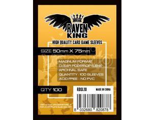 RAVEN KING BUSTINE PROTETTIVE 50X75MM CARD PROTECTOR - CARTE DA GIOCO/COLLEZIONE