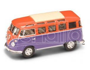 Hot Wheels LDC43209OR VW MICROBUS 1962 ORANGE/VIOLET 1:43 Modellino