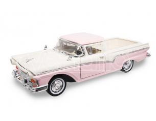 Hot Wheels LDC92208PK FORD RANCHERO 1957 WHITE/PINK 1:18 Modellino