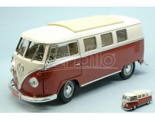 LUCKY DIE CAST LDC92328BG VW MICROBUS 1962 BURGUNDY W/WHITE ROOF 1:18 Modellino